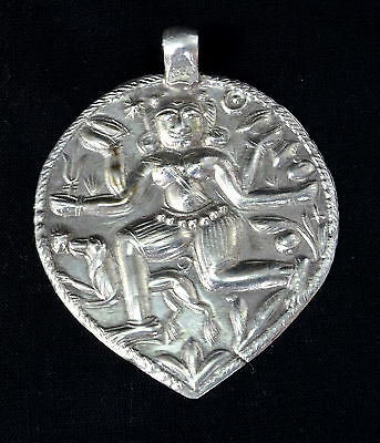 Indian Vintage Ethnic Silver Amulet Pendant Tribal Jewellery. G10-5