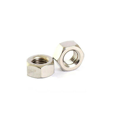 10X M1.6- M12-M24 Stainless Hex Full Nuts Hexgon Plain Nuts DIN 934