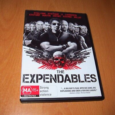 The Expendables ( Dvd , Region 4 ) ~ Excellent Like New