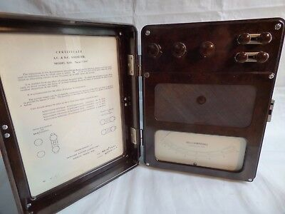 Vintage Antique Electrical Instrument Ammeter Ampere Sangamo Weston AC DC Altern
