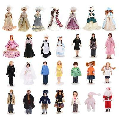 1:12 Scale Dollhouse Miniature Vintage/ Modern Figure Doll with Stand Collection