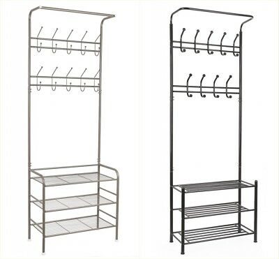 Metal Coat Hat Bag Clothes cloth Shoe Rack Stand Shelf Garment Hanger Hooks AU