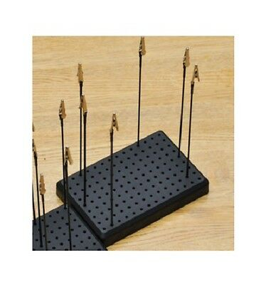 1 X Set 15 x 10cm Painting Stand Base Plus 10 x 19cm Poles And Alligator Clips