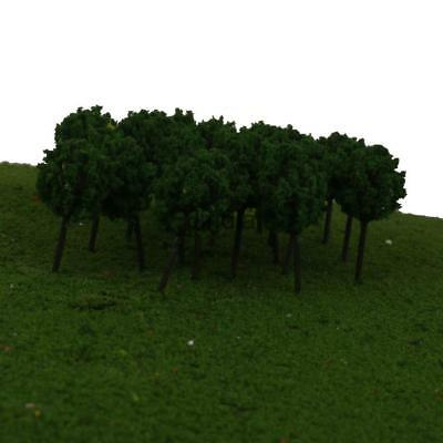 50pcs 20 X 30mm N Z GAUGE SCALE  DARK GREEN BALL TREES SHRUBS