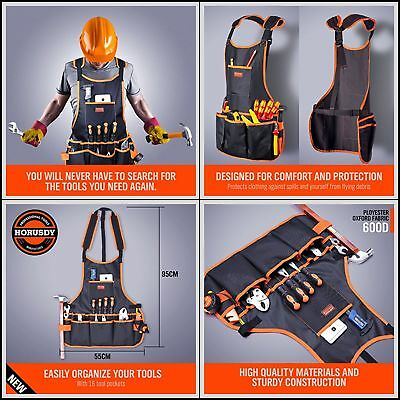 Electrician Tool Belt Bag Pouch Mechanic Vest Carpenter Apron 16 Pocket One Size