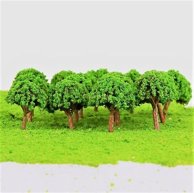 50pcs 40mm N Z GAUGE SCALE TREES SHRUBS