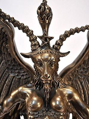 "Baphomet Horned Goat God Statue 15"" Tall by Maxine Miller"