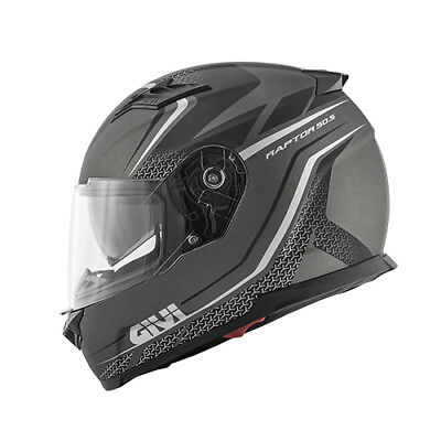 Givi Casco Integrale 50.5 Tridion Raptor Nero Titanio Opaco Full Face Moto Bike