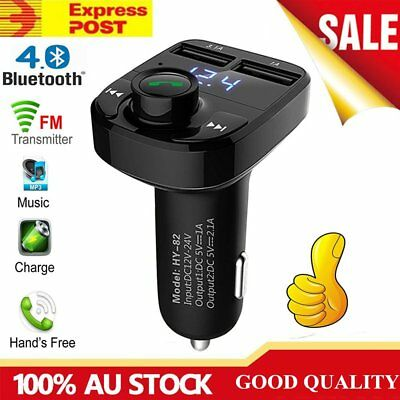 Bluetooth Car Kit MP3 Player FM Transmitter  Dual USB Charger For iPhone Samsumg