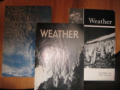`Weather` magazine, issues from 1946,`47,March 1951-Jan 1957,All of 1970 ,1988