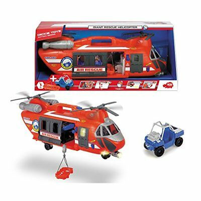 Dickie Toys 203309000 - Giant Rescue Helicopter, großer Spielzeughelikopter