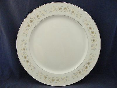 "Carlton China Andover 12"" Chop Plate Platinum Trim Mint Condition"