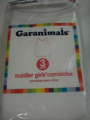 Garanimals Toddler Girl's 3 Pack Camisoles Size 2T/3T NEW
