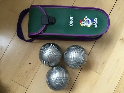 PETANQUE OBUT MADE IN FRANCE 3 BOULES  + boules bag