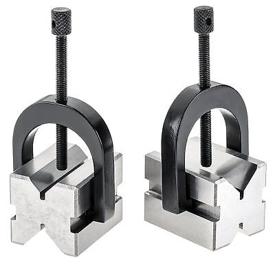 "A ONE PRECISION 'V' BLOCK SET 1-3/8"" x 1-1/2""x1-3/4"" v block clamp double sided"