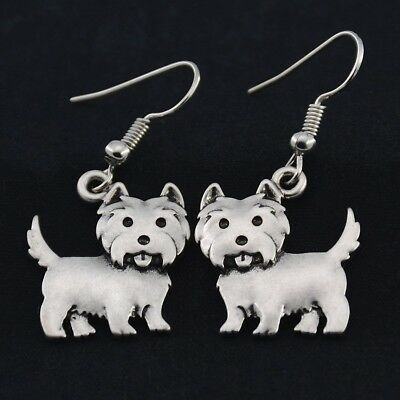 WESTIE EARRINGS - NEW Without Tags