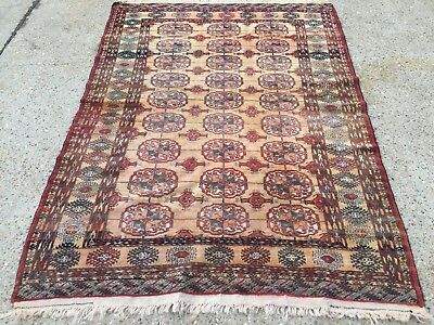 Vintage Traditional Persian Turkmen Rug Wool Oriental Hand Made 176x124cm Boho