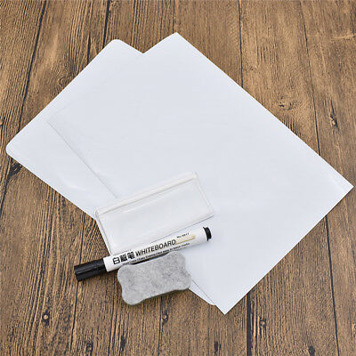 Dry Erase Flexible Magnetic Whiteboard for Message Board Fridge Magnets Size A4