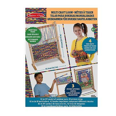 Melissa & Doug Wooden Multi-Craft Weaving Loom: Extra-Large Frame 57.80 x 41.91