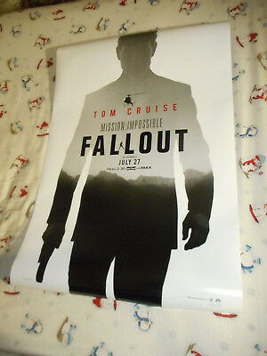 """Tom Cruise MISSION: IMPOSSIBLE FALLOUT orig movie poster one sheet DS 27x40"""" New"""