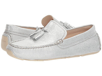 255a468a64b NIB Cole Haan Women s Rodeo Tassel Leather Driver Shoes W10936 Glitter  (silver)