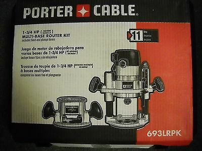 Porter Cable 693LRPK 1-3/4 Peak HP Router Kit fixed and plunge base New Electric