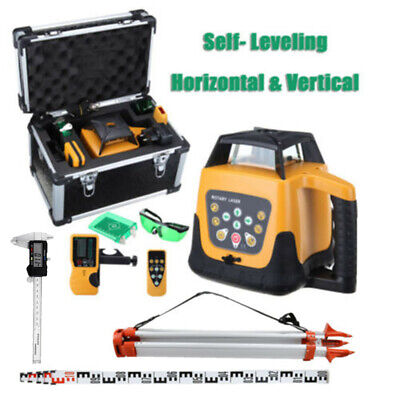 500m Range Automatic Green Laser Level Rotary Rotating Self Leveling w/ Tripod
