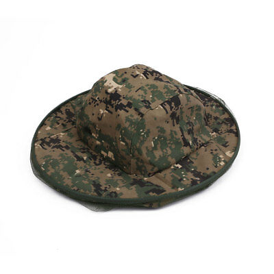 Jungle Camouflage Field Head Face Mesh Mask Cap Mosquito Bee Insect Hat