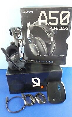 ASTRO Gaming A50 - Black Gen 2  Wireless Gaming Headset w/extras #BluOp5