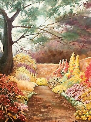 Very Large Original Oil On Canvas Impressionist Painting Signed 20th Century