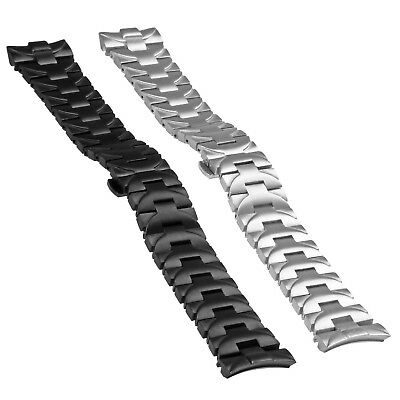 StrapsCo 24mm Heavy Duty Stainless Steel Watch Band Bracelet