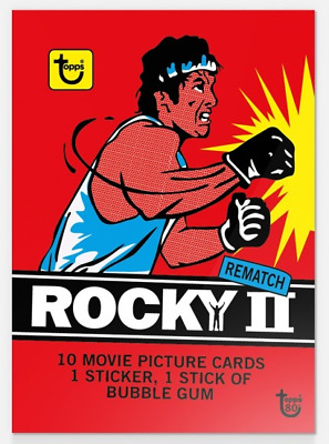 2018 Topps Wrapper Art Card #5 1979 Rocky (2) II Bubble Gum 80th Annvy PR-413