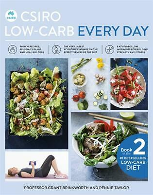 CSIRO Low-Carb Every Day by Grant Brinkworth Paperback Book Free Shipping!