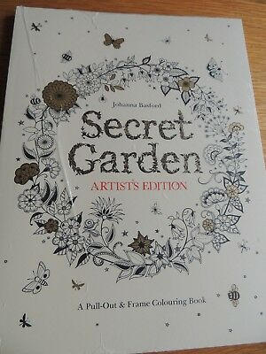 Secret Garden Artist's Edition: A Pull-Out and Frame Colouring Book Perfect  con