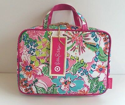 2dba5749ab NEW ~LILLY PULITZER for Target WEEKENDER Case Cosmetic Bag Tote Pink Nosie  Posey