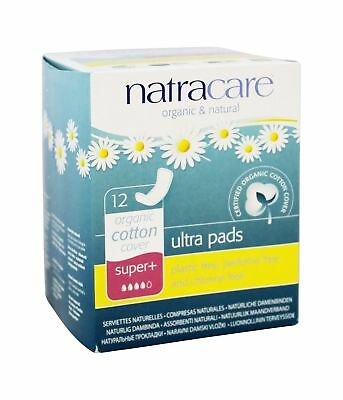 Natracare Natural Ultra Pads, Super Plus, 12-Count Boxes (Pack Of 12)