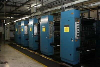 1998 Process King 5-Unit Heat-Set Web Printing Press