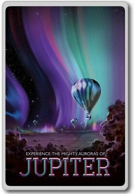 Visit Jupiter – NASA Vintage Space Travel – Visions of the Future – fridge ma...