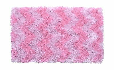 The Rug Market Shaggy Raggy Pink Chevron Children's Area Rug, 2.8' x 4.8'