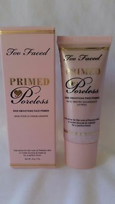 NEW Too Faced Primed Poreless Skin Smoothing Face Primer FREE SAME DAY SHIPPING