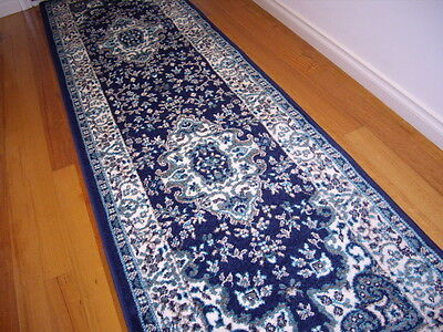 Hallway Runner Hall Runner Rug Traditional Blue 6 Metres Long FREE DELIVERY 4980