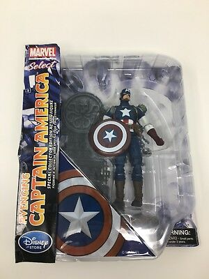 "Disney Store Marvel Select AVENGING CAPTAIN AMERICA Avengers 7"" Diamond Select"
