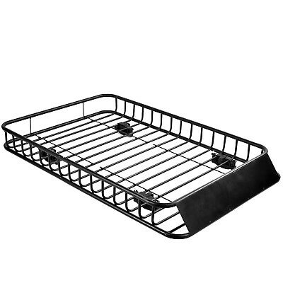 """64"""" Roof Rack Cargo Top Luggage Holder Carrier Basket with Extension Travel"""