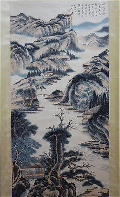 Excellent Chinese 100% Hand Painting & Scroll Landscape By Zhang Daqian 张大千 YB01