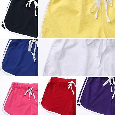 Womens Cotton Casual Beach Sports wear Gym Yoga Workout Shorts Fashion 8 Colours
