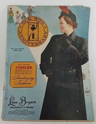 Vintage Fall and Winter 1950 / 1951 Women's Lane Bryant catalog