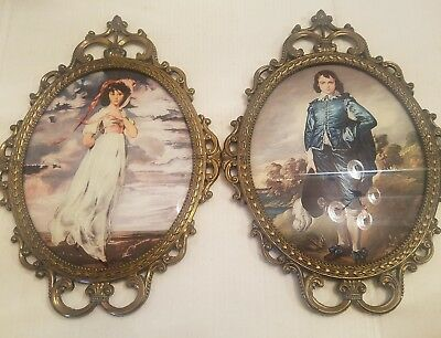 Vintage Blue Boy and Pinkie Pair Ornate Frames~ Victorian Himark Italy