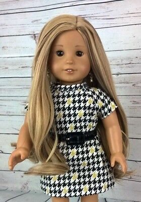 10-11 Custom Doll Wig fit Blythe-American Girl-1/4 Size Doll SANDY BEACH bn1