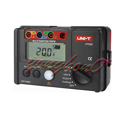 Continuity VAC/DC Electrical Insulation UNI-T UT526 Tester1000V 500MΩ RCD Test