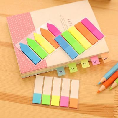 3 Styles Fluorescent Adhesive Sticky Note Marker Index Tab Bookmark Stationery^